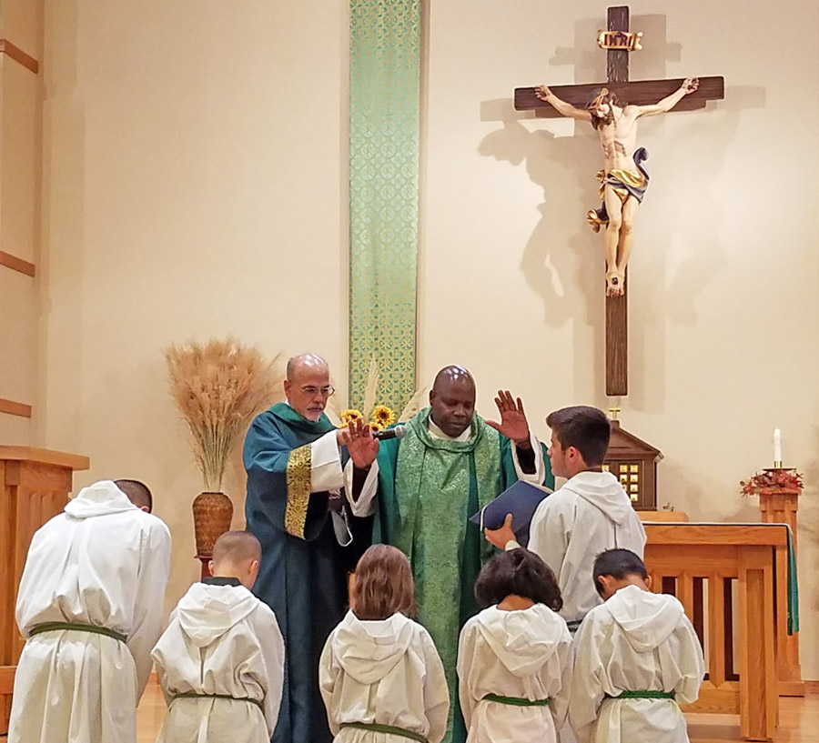 Installation of new Altar Servers