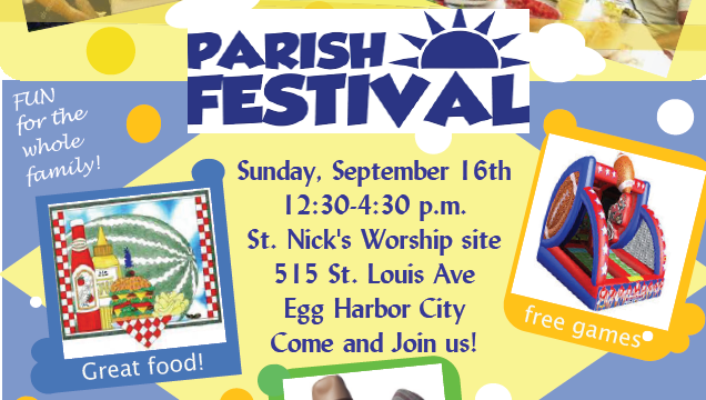 Join us for our Annual Parish Festival